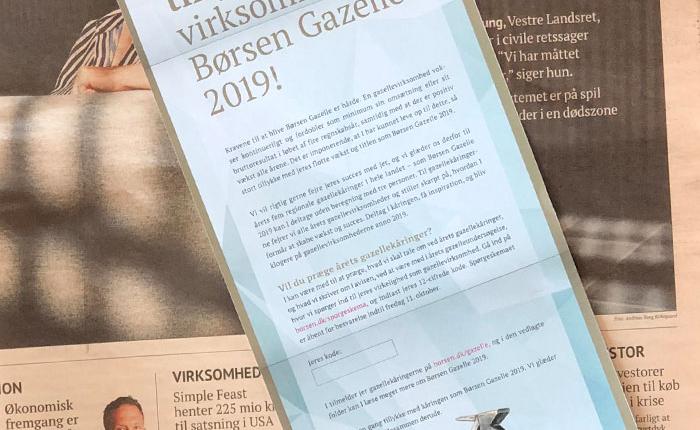 Commentor er Børzen Gazelle 2019