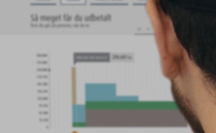 Person der bruger pensionsinfo.dk