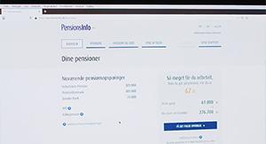Pensionsinfo og bruger af systemet