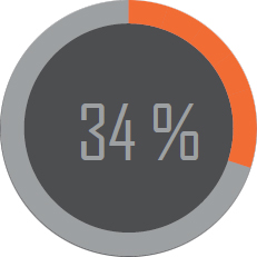 34 procent